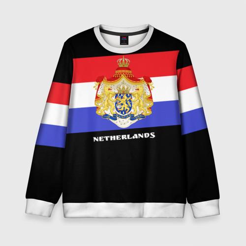 Детский свитшот 3D Флаг и герб Нидерланды