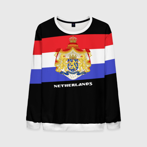 Мужской свитшот 3D Флаг и герб Нидерланды