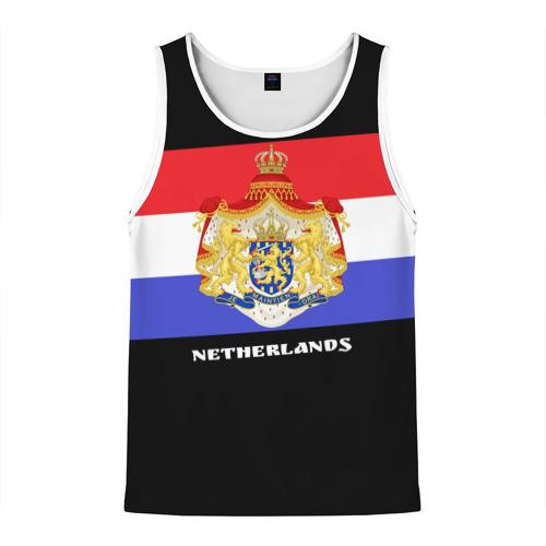 Мужская майка 3D Флаг и герб Нидерланды