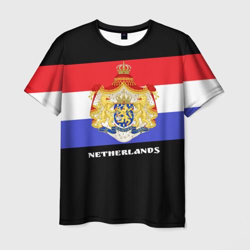 Мужская футболка 3D Флаг и герб Нидерланды