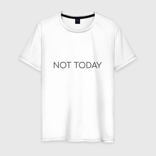 Мужская футболка хлопок not today