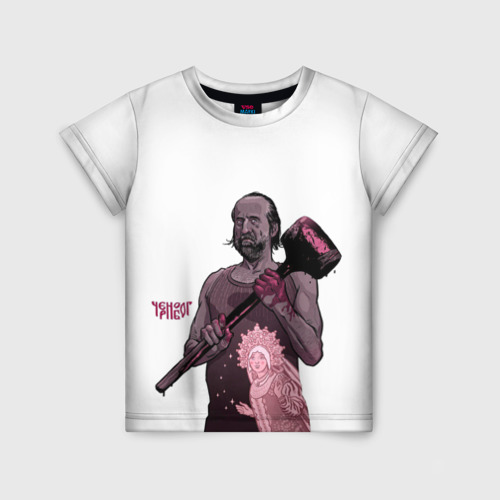 Детская футболка 3D ЧерноБог
