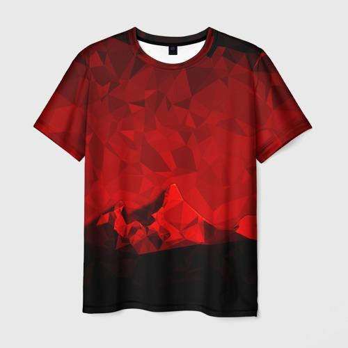 Мужская футболка 3D crystal abstract