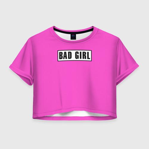 Женская футболка Crop-top 3D BAD GIRL