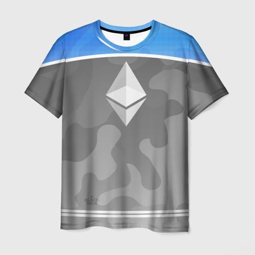 Мужская футболка 3D Black Milk Ethereum - Эфириум