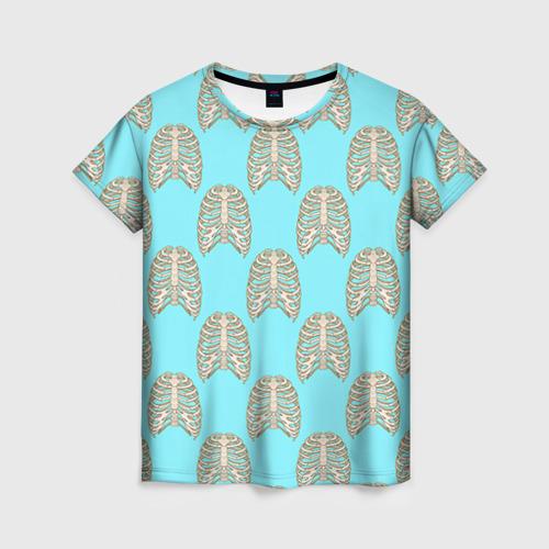 Женская футболка 3D Ребра