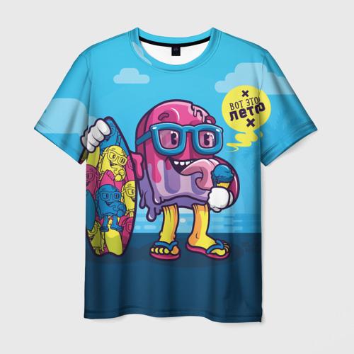 Мужская футболка 3D Вот это Лето с Мороженым