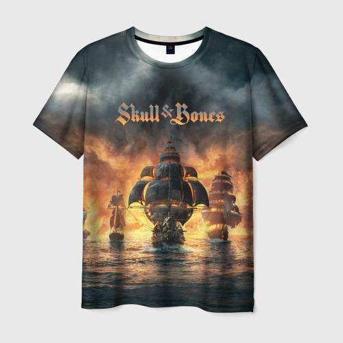 Мужская футболка 3D Skull and Bones