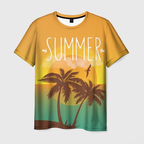 Мужская футболка 3D Летний пляж