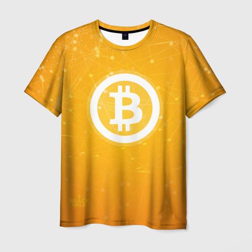 Мужская футболка 3D Bitcoin - Биткоин