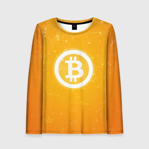 Женский лонгслив 3D Bitcoin - Биткоин
