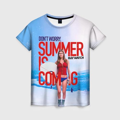 Женская футболка 3D Лето близко