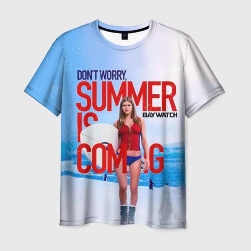 Мужская футболка 3D Лето близко