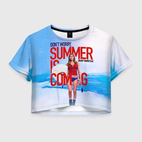 Женская футболка Crop-top 3D Лето близко