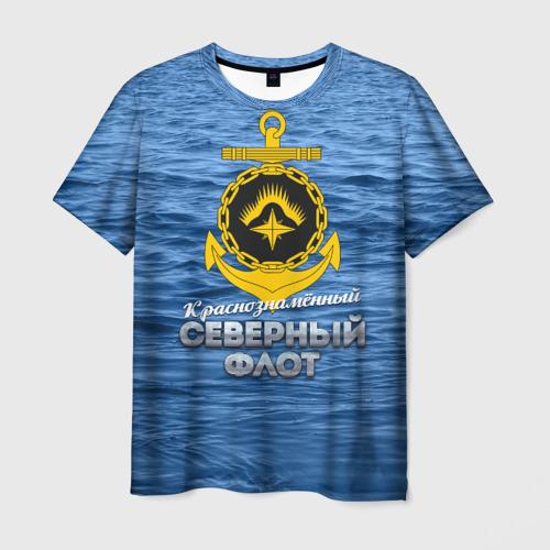 Мужская футболка 3D Северный флот