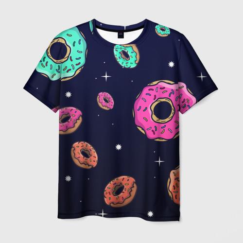 Мужская футболка 3D Black Milk Космические Пончики