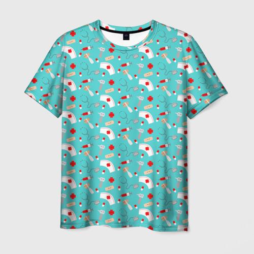 Мужская футболка 3D Happy medic
