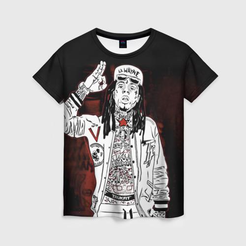 Женская футболка 3D Lil Wayne 3