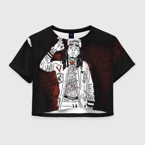 Женская футболка Crop-top 3D Lil Wayne 3