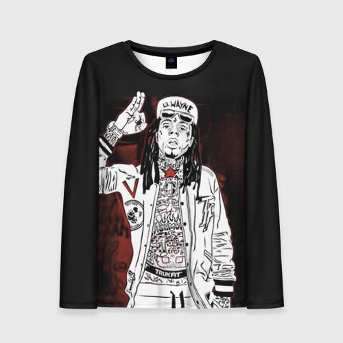 Женский лонгслив 3D Lil Wayne 3