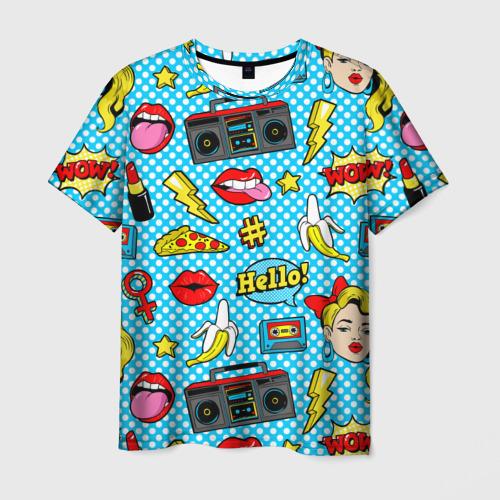 Мужская футболка 3D Девочка из комикса