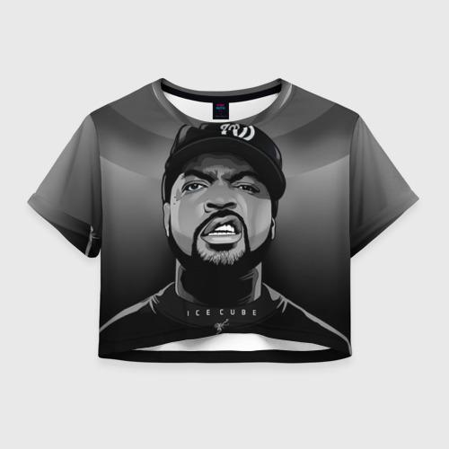 Женская футболка Crop-top 3D Ice Cube 2