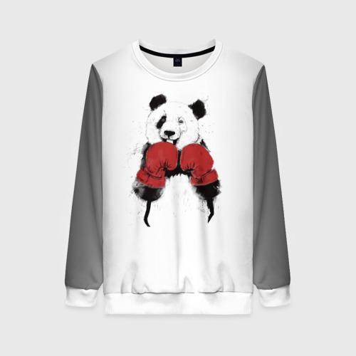 Женский свитшот 3D Панда боксер