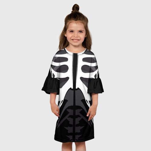 Детское платье 3D Скелет