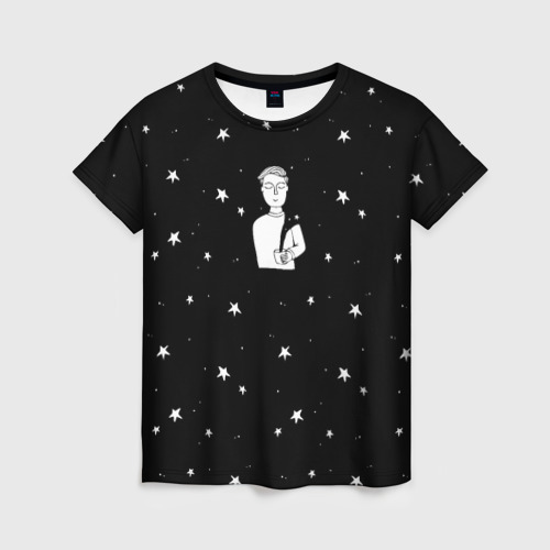 Женская футболка 3D Чай Космос