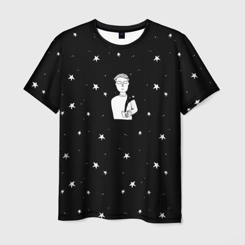 Мужская футболка 3D Чай Космос