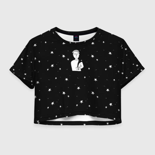 Женская футболка Crop-top 3D Чай Космос