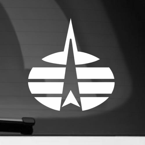 Наклейка на автомобиль Космические войска (ВВС) РФ