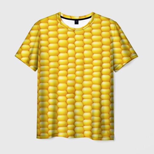 Мужская футболка 3D Сладкая вареная кукуруза