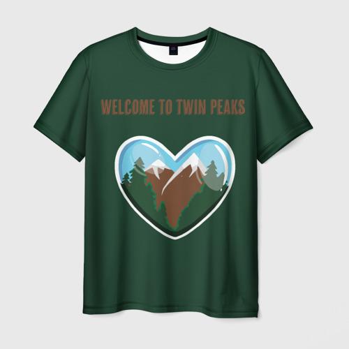 Мужская футболка 3D Добро пожаловать в Твин Пикс