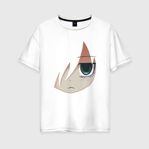 Женская футболка хлопок Oversize Tomoko Kuroki Face