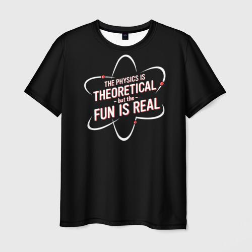 Мужская футболка 3D Физика и веселье
