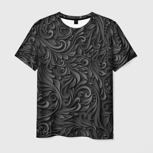 Мужская футболка 3D Вырезанный Узор