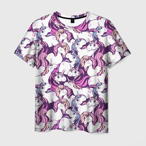 Мужская футболка 3D unicorn