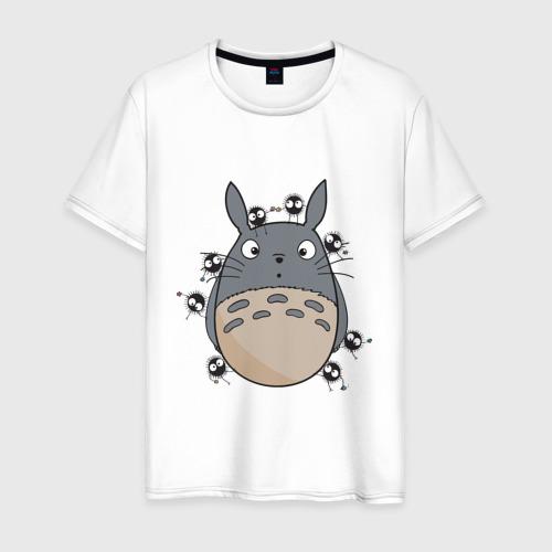 Мужская футболка хлопок Удивленный Тоторо