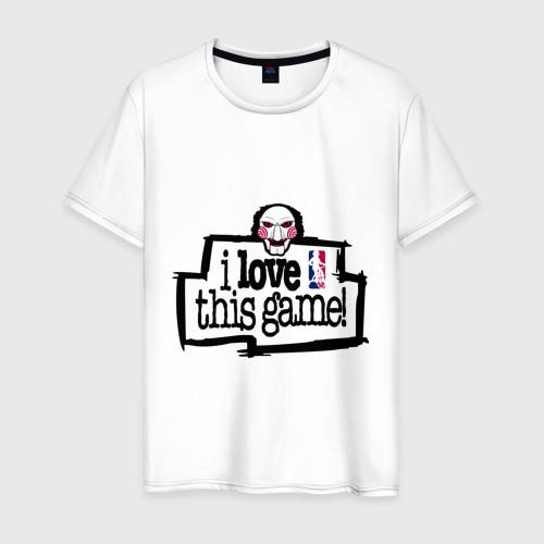 Мужская футболка хлопок Пила - люблю эту игру