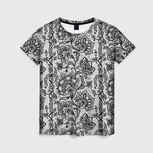 Женская футболка 3D Кружево