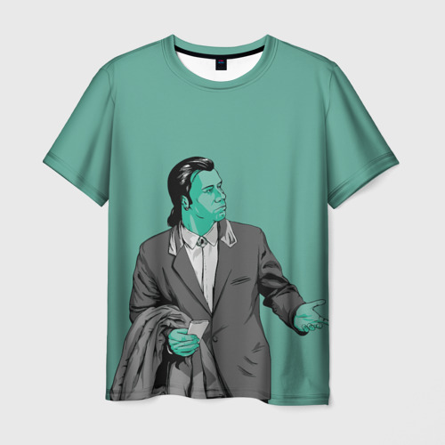 Мужская футболка 3D Недоумевающий Винсент