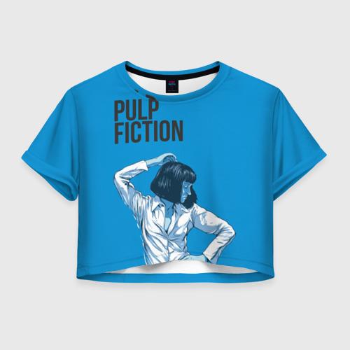 Женская футболка Crop-top 3D Танцующая Мия