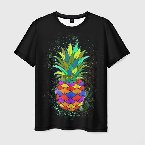 Мужская футболка 3D Дикий ананас