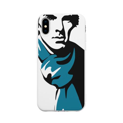 Чехол для iPhone X матовый Шерлок Холмс