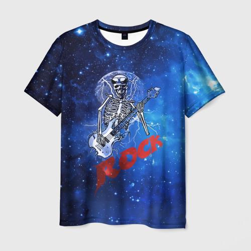 Мужская футболка 3D Мертвый гитарист