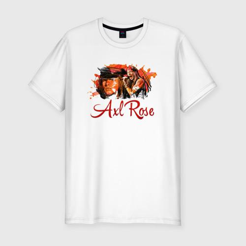 Мужская футболка хлопок Slim Axl Rose