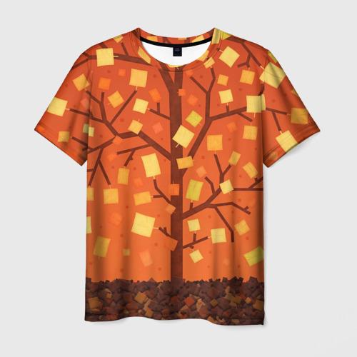 Мужская футболка 3D Золотая осень
