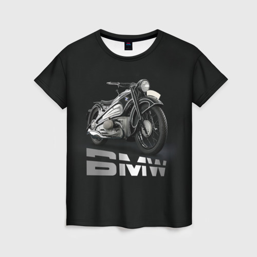 Женская футболка 3D Мотоцикл BMW