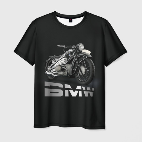 Мужская футболка 3D Мотоцикл BMW